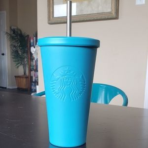 Starbucks Teal Blue Matte Stainless Steel